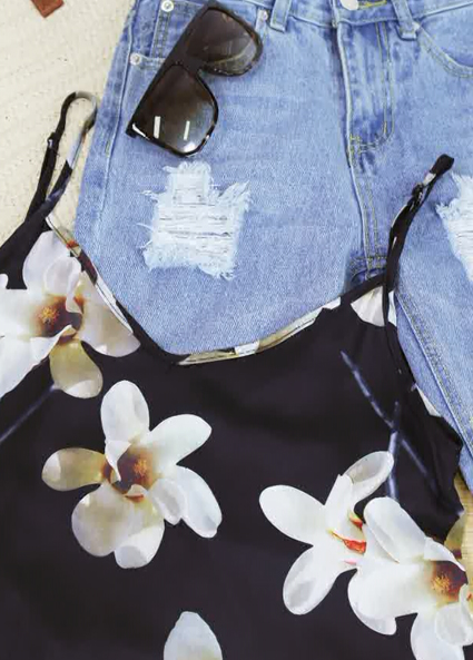 How to Wear Summertime Denim & Floral | Zaful Look Book